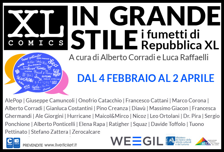 """Mostra """"In grande stile, i fumetti di Repubblica XL"""" al WEGIL a Roma"""