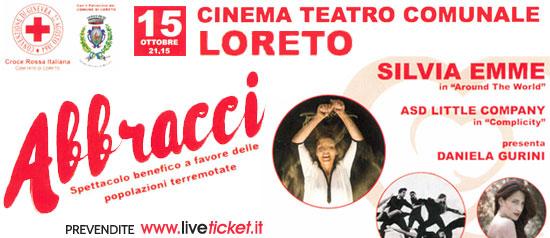"""Silvia Emme """"Abbracci"""" al Teatro Comunale di Loreto"""