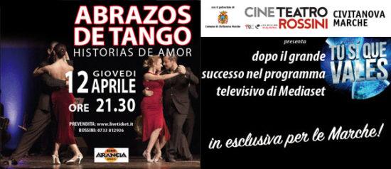 Abrazos de tango al Teatro Rossini di Civitanova Marche