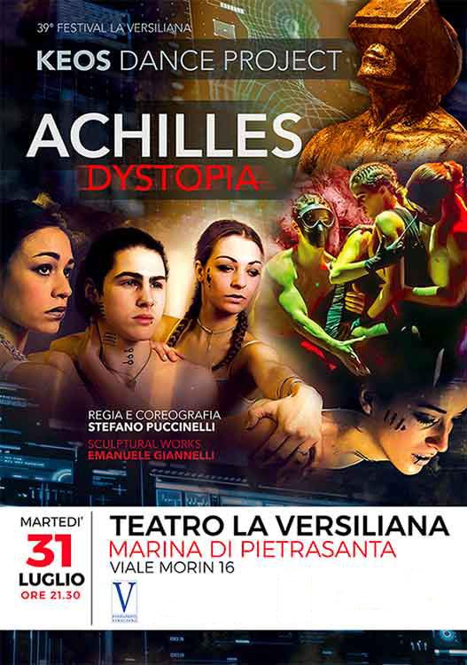 Achilles Dystopia al Teatro la Versiliana a Marina di Pietrasanta