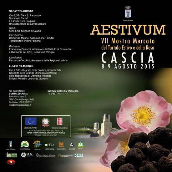 Aestivum - VII Mostra Mercato del Tartufo Estivo e della Rosa a Cascia