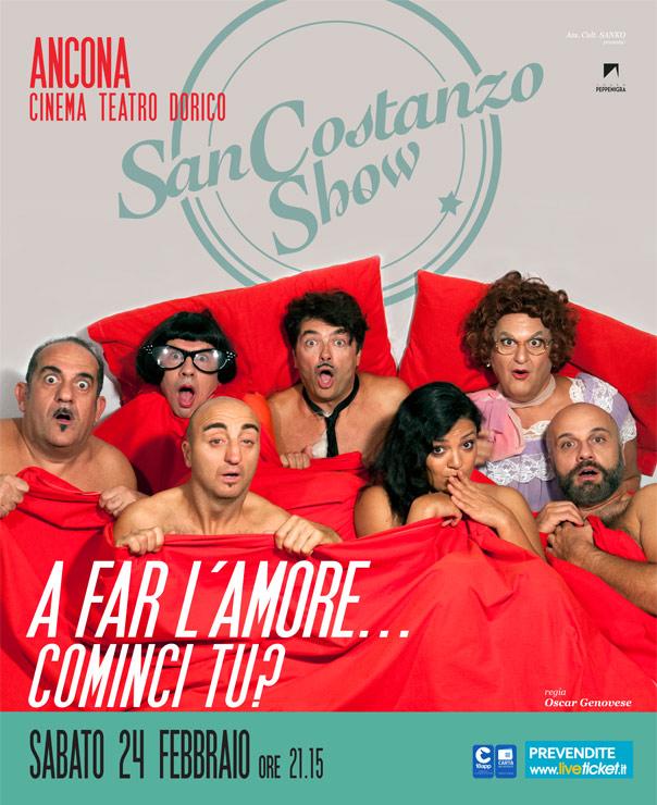 """San Costanzo Show """"A far l'amore...cominci tu?"""" al Cinema Teatro Dorico ad Ancona"""