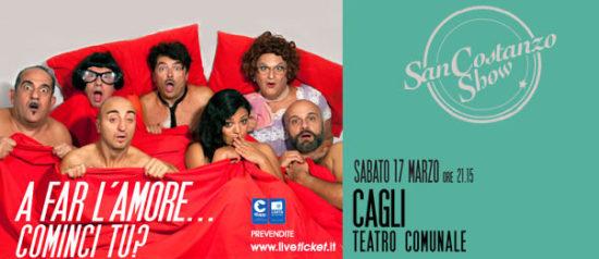 """San Costanzo Show """"A far l'amore...cominci tu?"""" al Teatro Comunale di Cagli"""