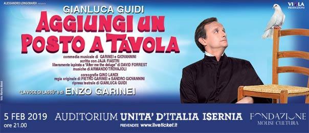 Aggiungi un posto a tavola all'Auditorium Unità d'Italia di Isernia