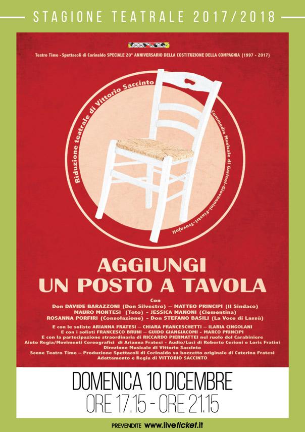 Aggiungi un posto a tavola al teatro portone di senigallia live in italia - Se aggiungi un posto a tavola ...