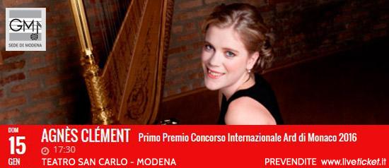 Agnès Clément al Teatro San Carlo a Modena