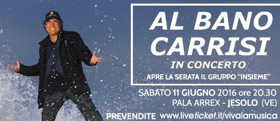 Al Bano Carrisi in concerto al Pala Arrex di Jesolo