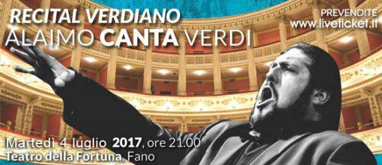 """Recital Verdiano """"Alaimo canta Verdi"""" al Teatro Della Fortuna a Fano"""