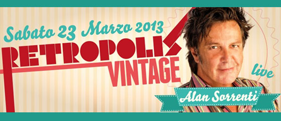 Retropolis Vintage Alan Sorrenti al Velvet di Rimini