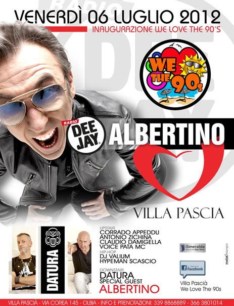 We love the 90's con Albertino al Villa Pascià di Olbia