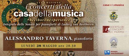 Alessandro Taverna alla Casa della Musica a Parma