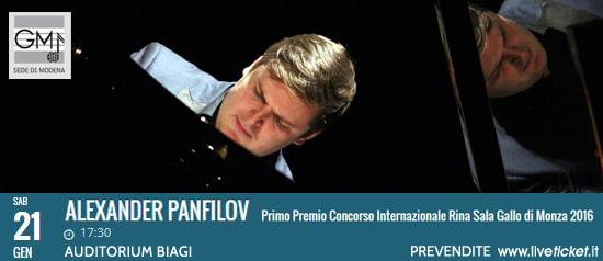 Alexander Panfilov all'Auditorium Marco Biagi di Modena