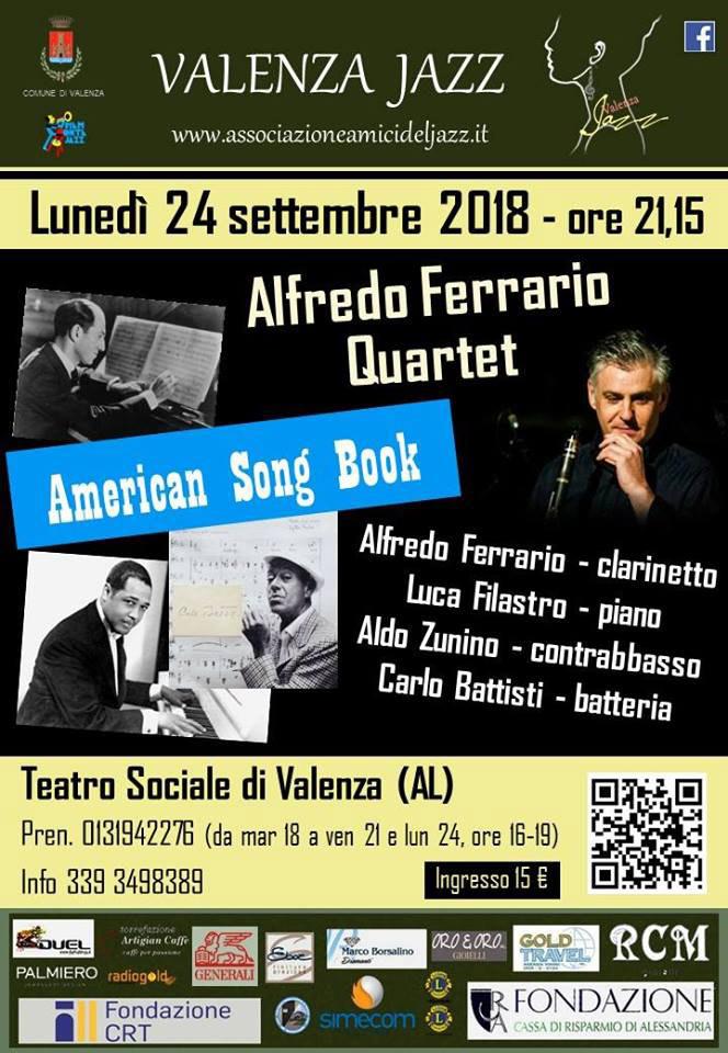 Alfredo Ferrario Quartet - American SongBook al Teatro Sociale a Valenza
