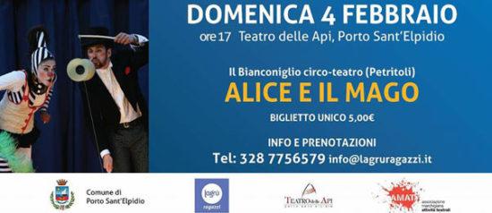Alice e il mago al Teatro delle Api di Porto Sant'Elpidio