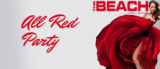 All Red Party The Beach Milano