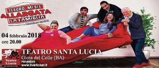Tesoro, mi si è allargata la famiglia al Teatro Santa Lucia di Gioia del Colle