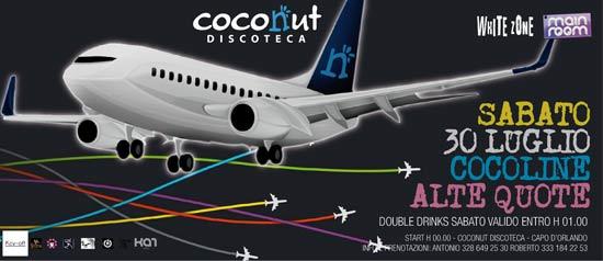Alte Quote Coco al Coconut di Capo D'Orlando