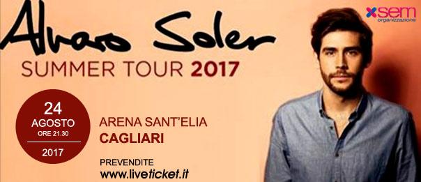 """Alvaro Soler """"Summer Tour 2017"""" a Cagliari"""