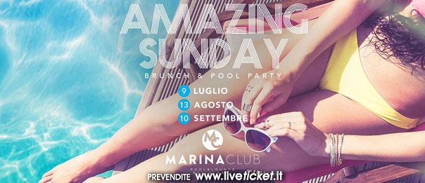 Amazing sunday the pool party al Marina Club a Puntone