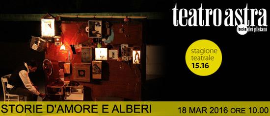 """Storia d'amore e alberi"" al Teatro Astra di Bellaria Igea Marina"