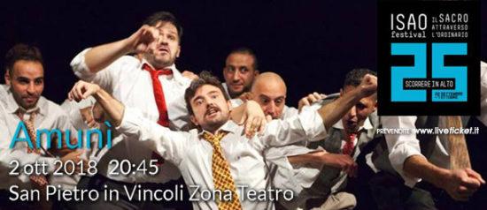 """Isao Festival """"Amunì"""" al Teatro in San Pietro in Vincoli a Torino"""