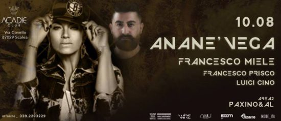 Ananè Vega all'Acadie Club di Scalea