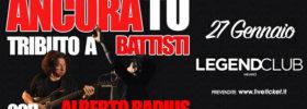 """""""Ancora Tu"""" Alberto Radius - Tributo a Battisti al Legend Club di Milano"""