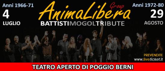 AnimaLibera BattistiMogolTribute al Teatro Aperto di Poggio Berni a Poggio