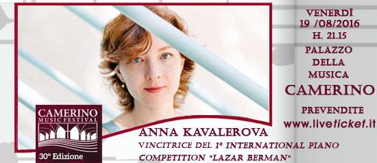Anna Kavalerova al Camerino Music Festival