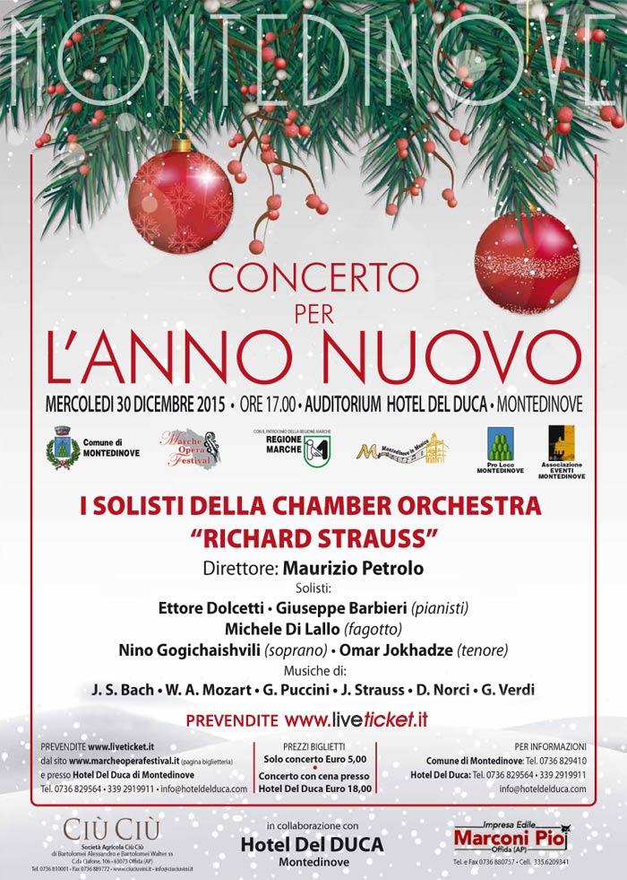 MARCHE OPERA FESTIVAL presenta  Concerto per l'ANNO NUOVO