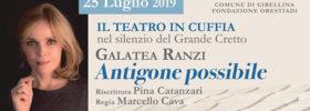 """Galatea Ranzi """"Antigone possibile"""" al Grande Cretto di Burri a Gibellina"""