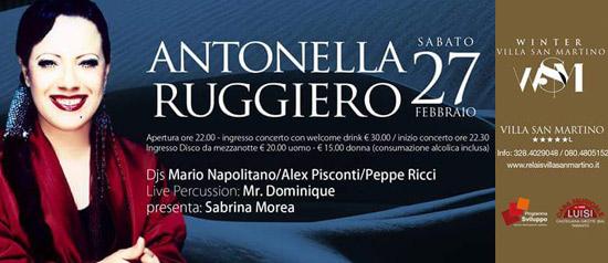 Antonella Ruggiero all'Hotel Relais Villa San Martino a Martina Franca