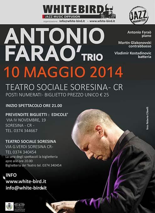 Antonio Faraò Trio al Teatro Sociale Soresina