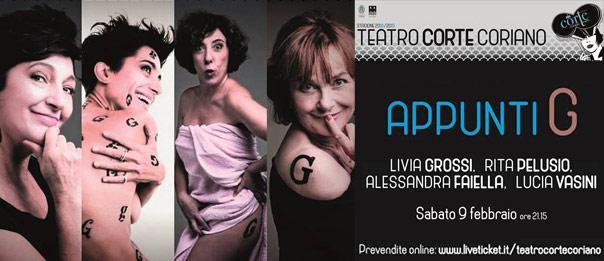 """Collettivo Appunti G """"Appunti G"""" al Teatro CorTe di Coriano"""