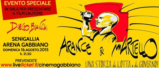 Arance e martello con Diego Bianchi al Cinema Gabbiano a Senigallia