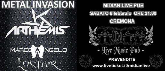 Arthemis + Marco Angelo + Lostair al Midian Live Pub di Cremona