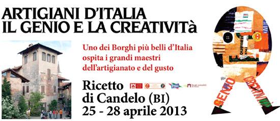 Artigiani d'Italia: fiera d'artigianato al Ricetto di Candelo