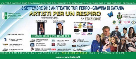 Artisti per un respiro all'Anfiteatro Turi Ferro a Gravina di Catania