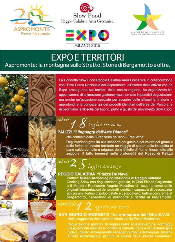 Expo e Territori nel Parco Nazionale dell'Aspromonte