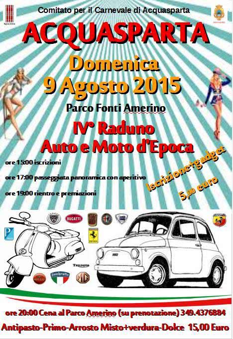 4 Raduno auto e moto d'epoca al Parco Fonti Amerino di Acquasparta