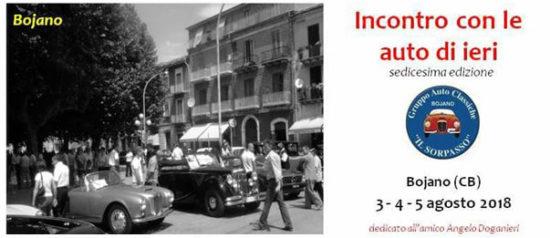 Incontro con le auto di ieri in Piazza Roma a Bojano