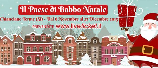 Il Paese di Babbo Natale a Chianciano Terme