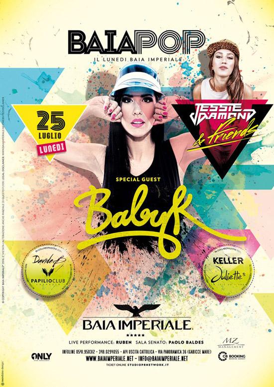 Baia Pop: Baby K & Jessie Diamond alla Baia Imperiale a Gabicce