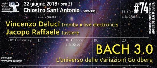 Bach 3.0 al Chiostro di Sant'Antonio a Taranto