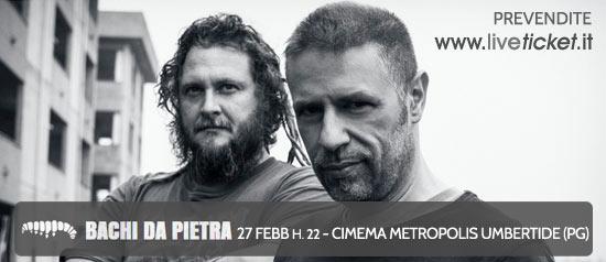 Bachi da Pietra in concerto al Metropolis di Umbertide