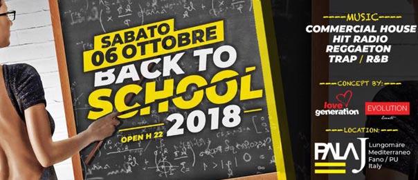 Back to school 2018 al Pala J a Fano