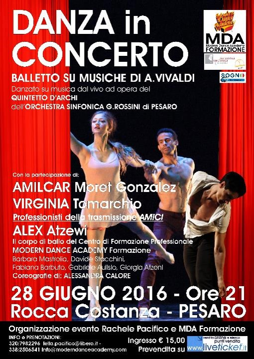Danza in concerto a Rocca Costanza a Pesaro