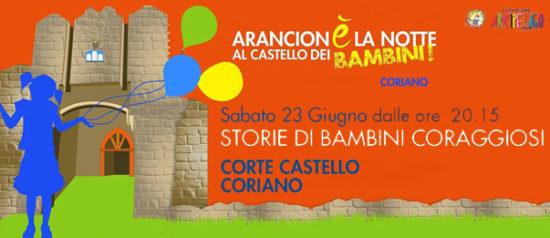 Storie di bambini coraggiosi alla CorTe del Castello di Coriano
