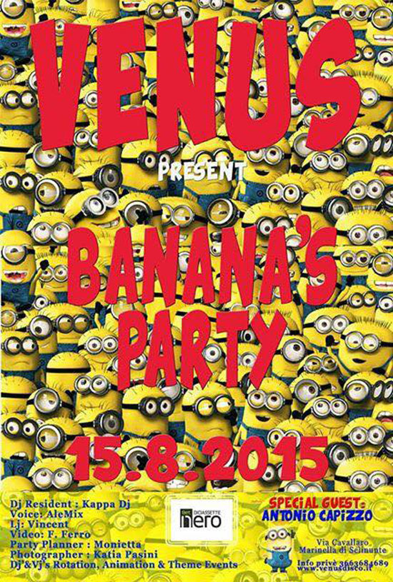 Venus Banana's Party a Marinella Selinunte
