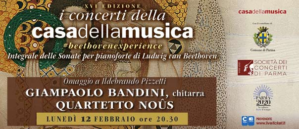 Giampaolo Bandini e Quartetto Noûs alla Casa della Musica a Parma
